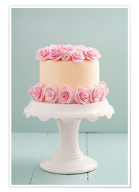 Poster  Cake with roses made of sugar - Elisabeth Cölfen