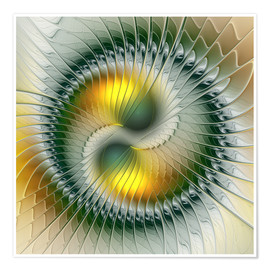 Poster  Like Yin and Yang Abstract Fractal Art - gabiw Art