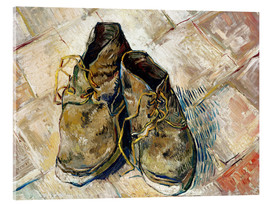 Verre acrylique  A Pair of Shoes - Vincent van Gogh