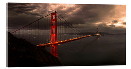 Tableau en verre acrylique  Golden Gate mystical brown - Michael Rucker