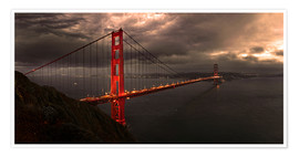 Poster  Golden Gate mystical brown - Michael Rucker