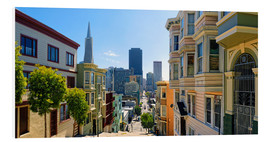 Tableau en PVC  Rues de San Francisco - Michael Rucker