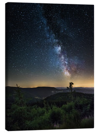 Toile  Milky Way over Black Forest - Andreas Wonisch