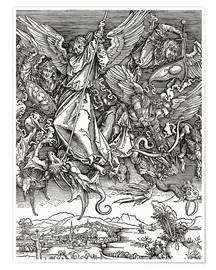 Poster  Michael Slaying the Dragon - Albrecht Dürer