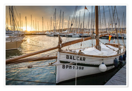 Poster  Historic sailboat in the port of Palma de Mallorca - Christian Müringer