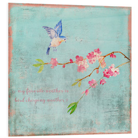 UtArt - Bird chirping waether Spring and cherryblossoms