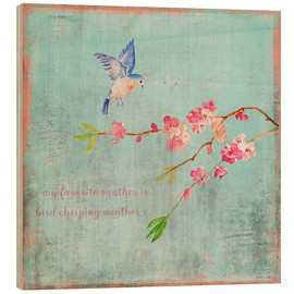Bois  Bird chirping waether Spring and cherryblossoms - UtArt