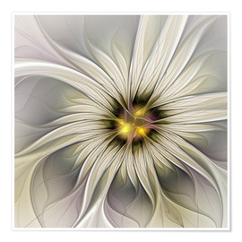 Poster  Fractal Flower in precious look - gabiw Art