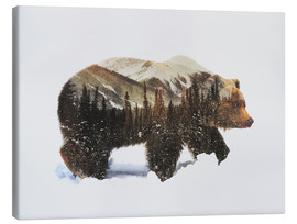 Toile  Arctic Grizzly Bear - Andreas Lie