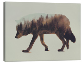 Tableau sur toile  Norwegian Woods The Wolf - Andreas Lie