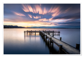 Poster Sunset at Chiemsee