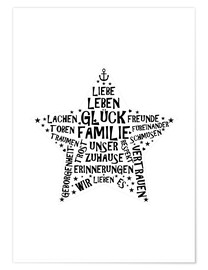 Poster Familienstern (allemand)