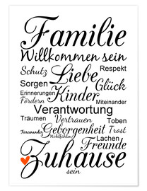 Poster Familie (allemand)