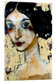 Verre acrylique  WOMAN WITH BLACK HAIR - RAR Kramer