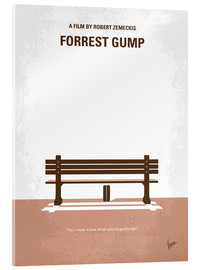 Verre acrylique  No193 My Forrest Gump minimal movie poster - chungkong