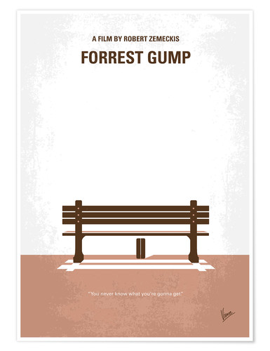 Poster Forrest Gump (anglais)