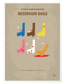 Poster No069 My Reservoir Dogs minimal movie poster