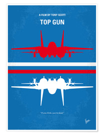 Poster No128 My TOP GUN minimal movie poster