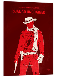 Verre acrylique  No184 My Django Unchained minimal movie poster - chungkong