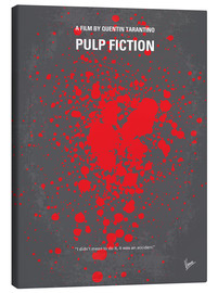 Toile  No067 My Pulp Fiction minimal movie poster - chungkong