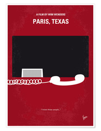 Poster Paris, Texas (anglais)