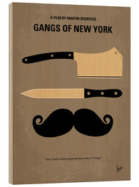 Tableau en bois  Gangs of New York (anglais) - chungkong