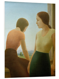 Tableau en PVC  Two girls at the window - Georg Schrimpf