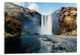 Verre acrylique  Skogafoss Waterfall - Images Beyond Words
