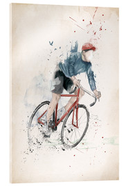 Verre acrylique  I want to ride my bicycle - Balazs Solti