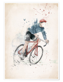 Poster  I want to ride my bicycle - Balazs Solti