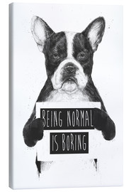 Tableau sur toile  Being normal is boring - Balazs Solti
