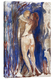Toile  Death and Life - Edvard Munch