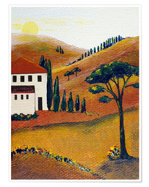 Poster Colours of Tuscany