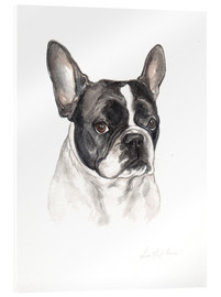 Verre acrylique  Bouledogue français - Lisa May Painting