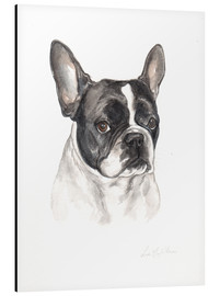 Lisa May Painting - French bulldog, black-white