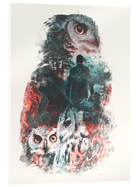 Verre acrylique  The Owls are Not What They Seem - Barrett Biggers