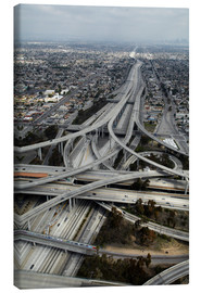 Toile  Los Angeles, Aerial of Judge Harry Pregerson Interchange and highway. - David Wall
