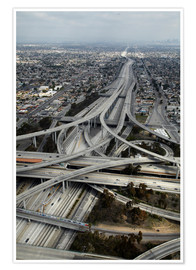 David Wall - Los Angeles, Aerial of Judge Harry Pregerson Interchange and highway.