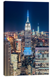 Tableau sur toile  Empire State Building from Top Of The Rock - Sascha Kilmer
