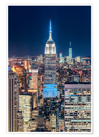 Poster  Empire State Building from Top Of The Rock - Sascha Kilmer