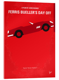 Verre acrylique  No292 My Ferris Bueller's day off minimal movie poster - chungkong
