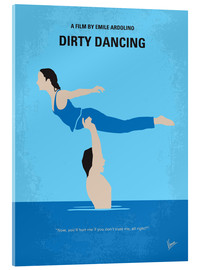 Verre acrylique  No298 My Dirty Dancing minimal movie poster - chungkong