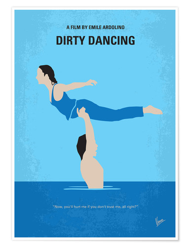 Poster No298 My Dirty Dancing minimal movie poster