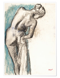 Poster  Baigneuse en train de se sécher - Edgar Degas