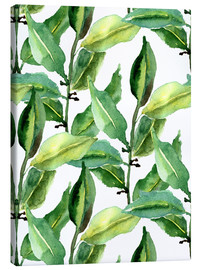 Toile  Leaves pattern