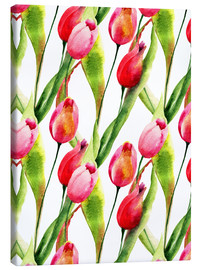 Toile  Tulips flowers