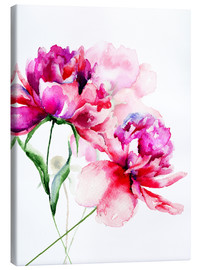Toile  Beautiful Peony flowers