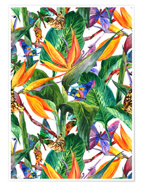 Poster  Bouquet tropical