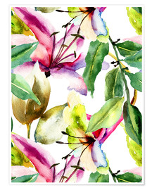 Poster  Lily in Watercolor