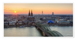 Poster  Panorama view of Cologne at sunset - Michael Valjak